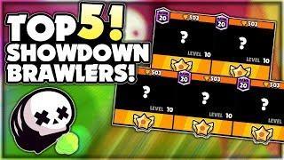 The Top 5 BEST Brawlers For SHOWDOWN! - Post Balance Change Update Rankings! - Brawl Stars