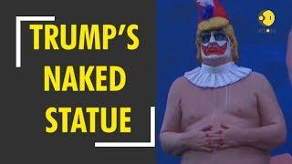 Naked clown Trump statue installed on Los Angeles