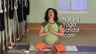 Naked Prenatal Yoga 11: Forward Bend Series with Ropes! (Naked Yoga School) with Cara