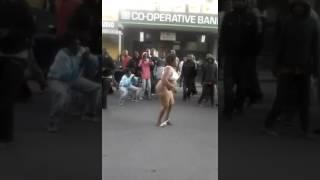 Naked women going crazy in a fight