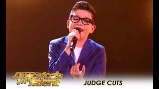 Angel Garcia: 13-Year-Old Latin Singer WOWS The Crowd! | America's Got Talent 2018