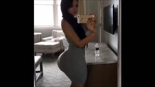 Sexy thick women shows her booty off in dress
