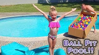 Filling our Pool With Ball Pit Balls! Epic Fail!!!