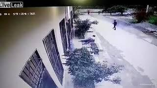 WTF ! people attacked by crazy man in the market