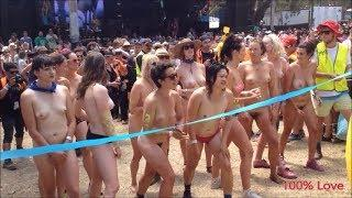 World most popular naked run for women - Part 1