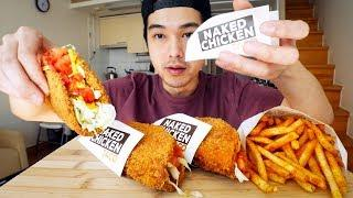 Taco Bell Naked Chicken Tacos & Mexican Fries - MUKBANG