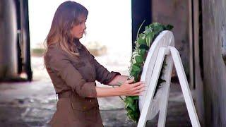 Melania Trump Places Wreath at Site in Ghana Once Used for Trading Slaves