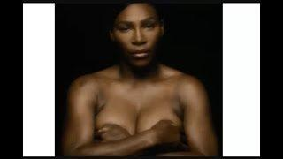 Serena Williams is shown topless to deliver an important message breast cancer awareness