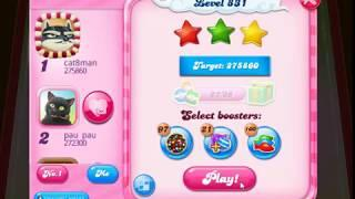 Candy Crush 831 No boosters 3 Stars Epic Fail!! But then...!