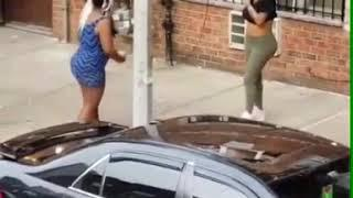 Ladies fight naked because of a man