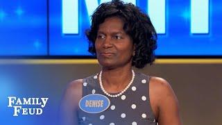 Sexy Moves! Denise puts the JINGLE in Jingle Bells!!! | Family Feud