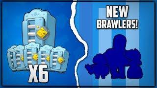 6 MEGA BOXES OPENING! 5 NEW BRAWLERS! Brawl Stars Gemming New Account! :: Brawl Stars Gameplay