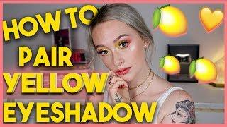 HOW TO Wear & Pair YELLOW Eyeshadow! The Color Series | JkissaMakeup
