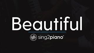 Beautiful (Piano Karaoke Instrumental) Bazzi & Camila Cabello