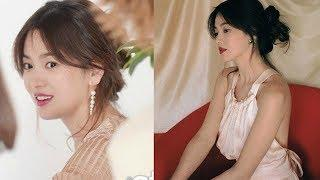 Song Hye Kyo seductive seductive showing naked shoulders on the magazine