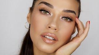 Quick & Easy Bronzed Nude Makeup Tutorial | Eman
