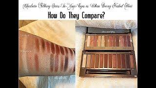 Charlotte Tilbury Stars In Your Eyes Palette vs Urban Decay Naked Heat