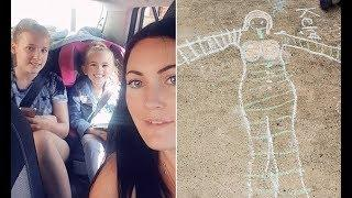 Woman's 5 year old daughter draws a woman with large breasts outside their neighbour's front