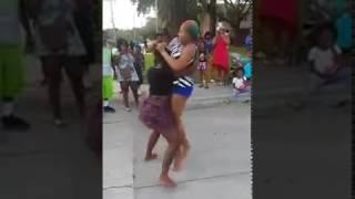 9 March 2017 2 women fighting naked