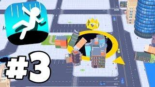 2000+ Score EVERY BUILDING DESTROYED! - Hole.io Gameplay Walkthrough Part 3