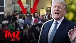 ANOTHER FIGHT At Donald Trump's Walk Of Fame Star | TMZ TV