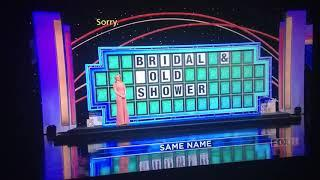 Wheel of fortune bridal & gold shower fail