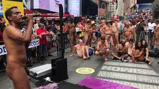 Times Square Naked Performance...