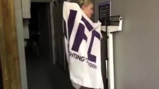 Gorgeous UFC star DROPS towel as she weighs in completely naked ahead of bout