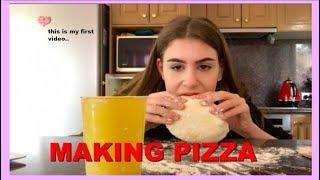 Making Pizza *FAIL* My First Video