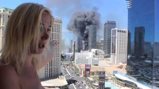 Las Vegas Fire Cosmopolitan Fire Naked Russian Pop Star Nadeea Volianova July 25, 2015