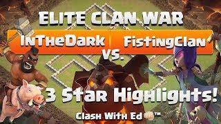 InTheDark vs FistOfHeaven - 3 Star Highlights - Clash of Clans