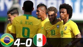 Brazil vs Mexico 4-0 - All Goals & Extended Highlights MELHORES MOMENTOS ( Last 3 Matches ) HD