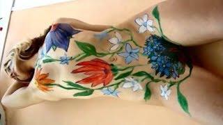 Exquisite Women Body Painting and Naked Public Art in Austria