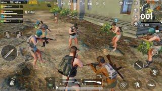 Teamed up with enemies in PUBG mobile , Naked Gang. 3 team