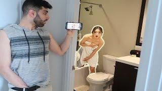 CAUGHT NAKED IN SHOWER PRANK!
