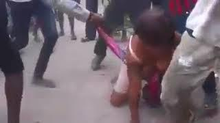 Shocking Video Of Kenyan Woman Being Beaten and Stripped Naked In The Streets TODAY 03/09/2018