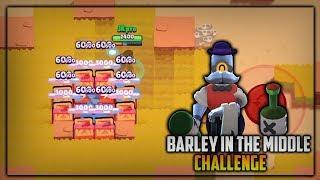 FUNNY BARLEY IN MIDDLE CHALLENGE! PART 2! - Brawl Stars Funny Moments