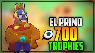EL PRIMO 700 TROPHIES GAMEPLAY! EPIC WINS! Ft.Jeff - Brawl Stars Gameplay