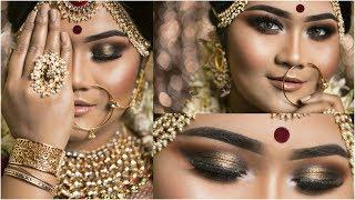 Bangladeshi Traditional Bridal Makeup Tutorial | Smokey Eyes+Nude Lips | Raisa Naushin