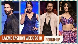 Kareena Kapoor Khan, Jacqueline Fernandez, Kangana Ranaut : Lakme Fashion week 2018 Round Up