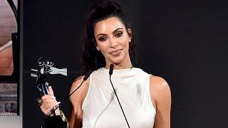 Kim Kardashian Receives CFDA Influencer Award & Jokes About Always Being Naked