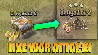 CAN WE 3 STAR THIS BASE?! | LIVE WAR ATTACK! | FAIL or WIN? | CLASH OF CLANS |