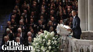 Barack Obama and George W Bush lead McCain tributes