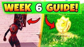 """*NEW* FORTNITE SEASON 4 WEEK 6 CHALLENGES """"LOOT LAKE CHESTS, ALL POSTERS, AND HIDDEN BATTLE STAR"""""""
