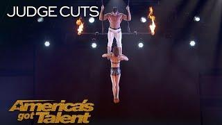 Duo Transcend: Dangerous Trapeze Act Goes Wrong - America's Got Talent 2018