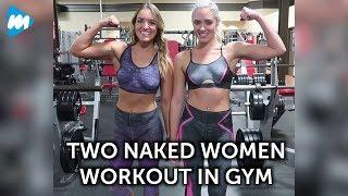 Two Naked Women Workout in Gym | Viral Mojo