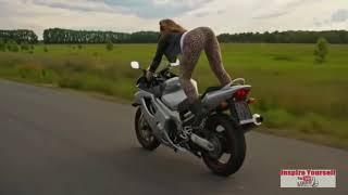 Nude Girls Big B and A'S Super Bikes Driving Bikinis compilation