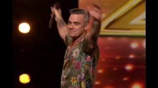 Robbie Williams delights fans with Angels performance on X Factor – 21 years after release