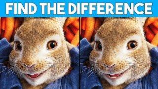 BET YOU CAN'T FIND THE DIFFERENCE! | 100% FAIL | PETER RABBIT MOVIE PUZZLE