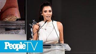Kim Kardashian Says She's 'Shocked' To Win CFDA Award As She's 'Naked Most Of The Time' | PeopleTV